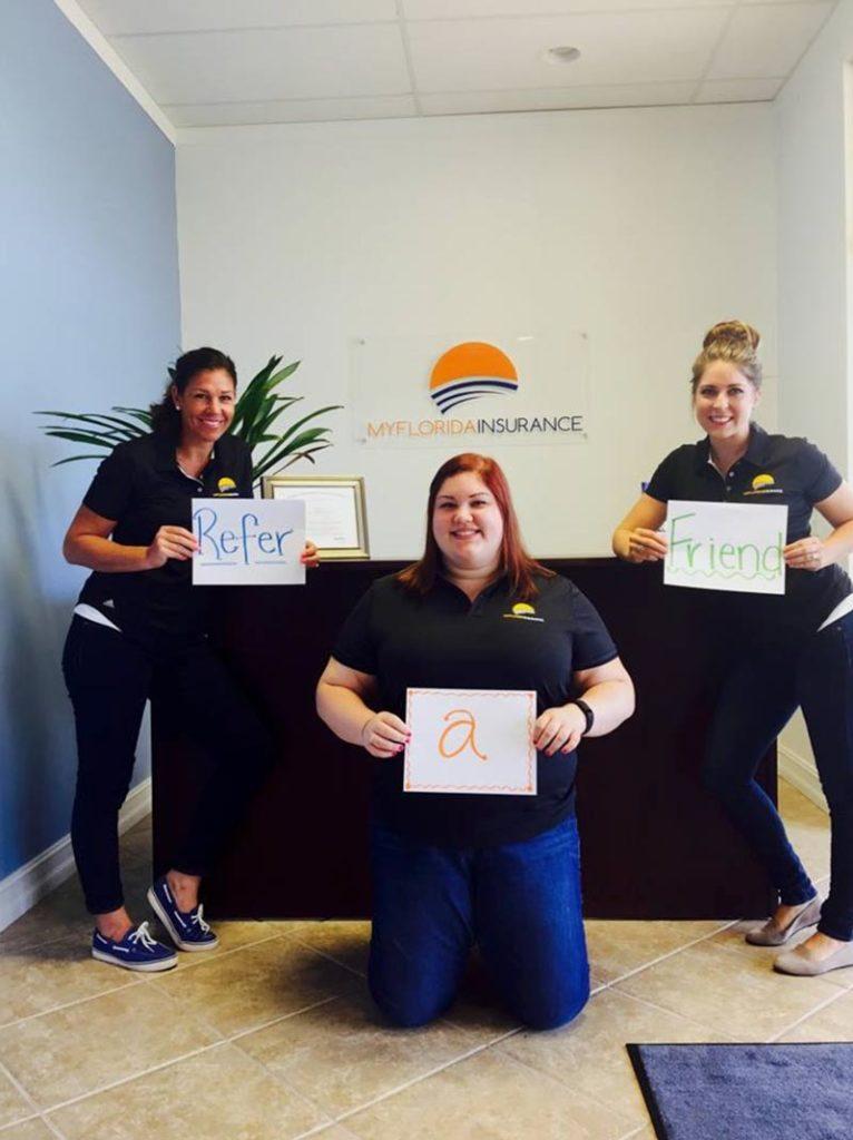 My Florida Insurance appreciates client referrals